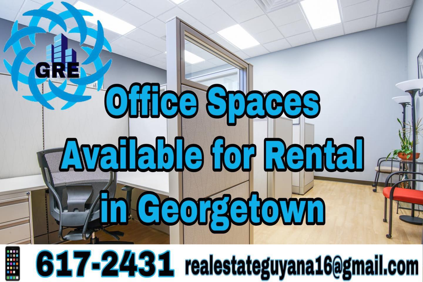 Office Spaces Available for rental in Georgetown.